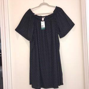 H&M boho inspired shift dress black